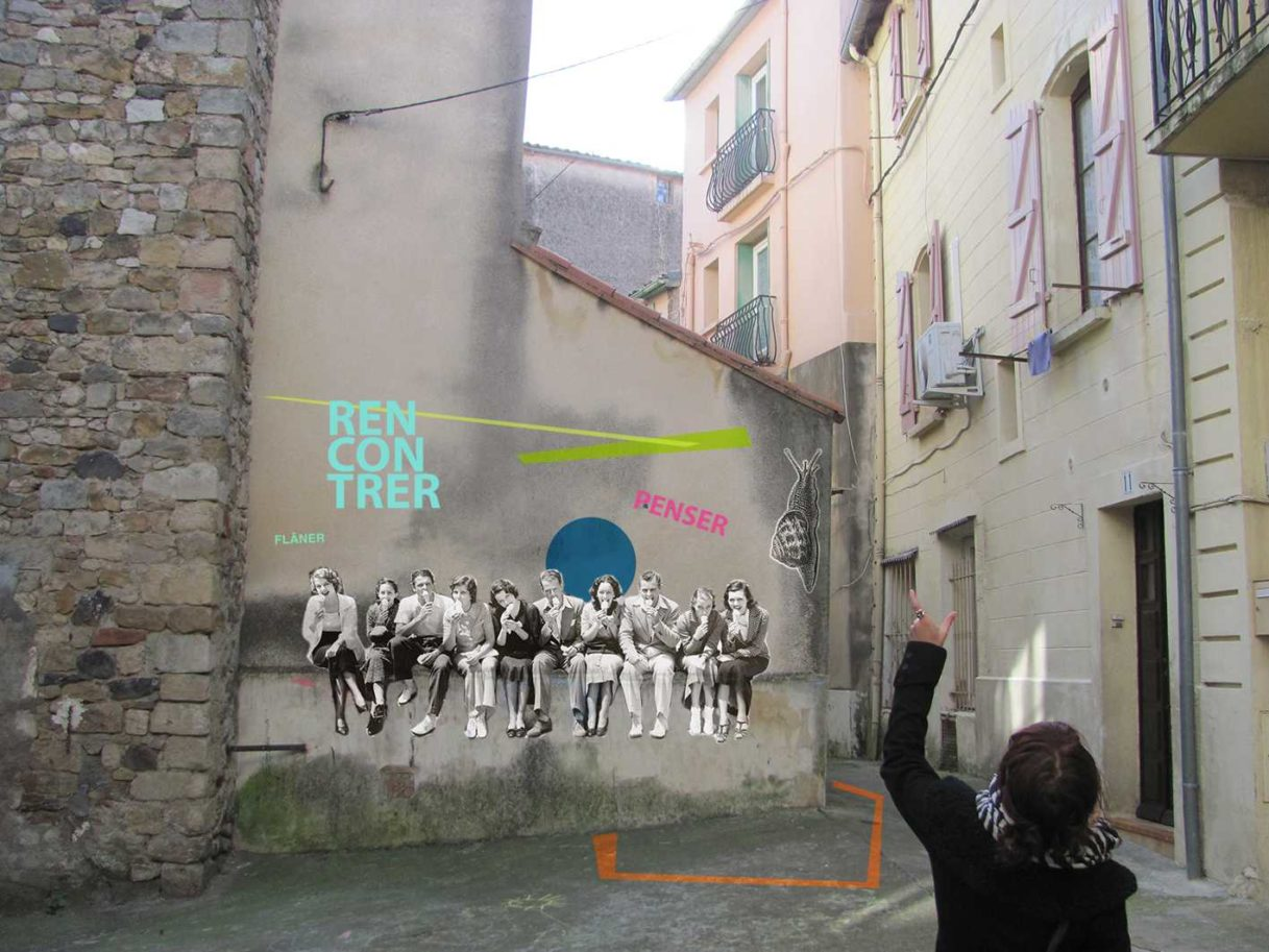 Street art affiche dans une ruelle